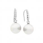 Silvertrends Ohrringe ST1152 Silber Ohrhänger Damenohrringe Perle Perlenohrringe