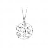 Silvertrends Damen Kette ST1159 Silber Collier Anhänger Schmuck Lebensbaum