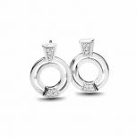 Silvertrends Ohrringe ST1328 Silber Ohrhänger Damenohrringe mit Zirkonia