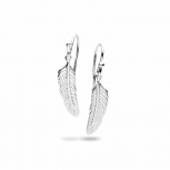 Silvertrends Ohrringe ST1355 Silber Ohrhänger Damenohrringe Feder