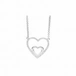 Silvertrends Damen Kette ST1356 Silber Collier Anhänger Schmuck Herz