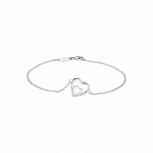 Silvertrends Damen Armband ST1357 Silber Armkette Herz Schmuck