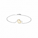 Silvertrends Damen Armband ST1360 Silber Gold Armkette Herz Schmuck