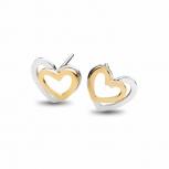 Silvertrends Ohrringe ST1361 Silber Ohrstecker Herz Damenohrringe
