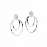 Silvertrends Ohrringe ST1405 Silber Ohrhänger Damenohrringe mit Zirkonia