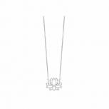 Silvertrends Damen Kette ST1415 Silber Collier mit Anhänger Schmuck Lotus Blüte