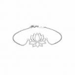 Silvertrends Damen Armband ST1416 Silber Armkette Lotus Blüte Schmuck