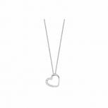 Silvertrends Damen Kette ST583 Silber Collier mit Anhänger Schmuck Herz