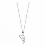 Silvertrends Damen Kette ST844 Silber Collier Anhänger Schmuck Herz Flügel