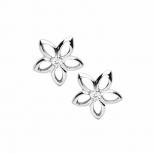 Silvertrends Ohrringe ST849 Silber Ohrstecker Blume Damenohrringe mit Zirkonia