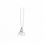 Silvertrends Damen Kette ST911 Silber Collier Liebe Glaube Frieden Herz Kreuz