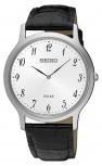 Seiko Herrenuhr SUP863P1 Armbanduhr Herren Silber Solar Uhr