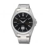 Seiko Herrenuhr SUR009P1 Armbanduhr Klassic Edelstahl Uhr Silber