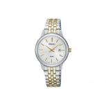 Seiko Damenuhr SUR661P1 Uhr Armbanduhr Damen Uhr Klassik bicolor Datum