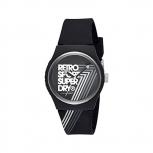 Superdry Herrenuhr SYG181B Uhr Armbanduhr Urban Retro schwarz