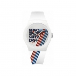 Superdry Herrenuhr SYG181W Uhr Armbanduhr Urban Retro weiss