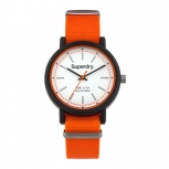 Superdry Herrenuhr SYG1970 Uhr Armbanduhr Uhr Campus Nato Orange