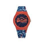 Superdry Damenuhr SYL169UCO Uhr Armbanduhr Urban Blau Blume