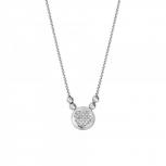XENOX Damen Kette X2617 Silber Collier Halskette mit Anhänger Herz
