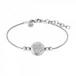XENOX Damen Armband X2618 Silber Armkette mit Anhänger Herz