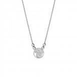 XENOX Damen Kette X2620 Silber Collier Halskette mit Anhänger Stern
