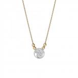 XENOX Damen Kette X2620G Silber Gold Collier Halskette mit Anhänger Stern