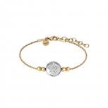 XENOX Damen Armband X2621G Silber Gold Armkette mit Anhänger Stern