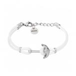 XENOX Damen Armband X6453 Silber Leder Anker Schmuckarmband Lederarmband