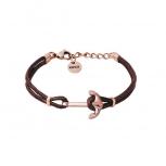 XENOX Damen Armband X6455R Silber Leder Anker Schmuckarmband Lederarmband