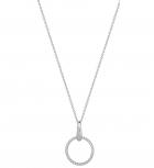 XENOX Damen Kette XS1482 Silber 60 cm Collier Halskette mir Anhänger