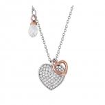 XENOX Damen Kette XS1534R Silber 45 cm Collier Halskette mir Anhänger Herz