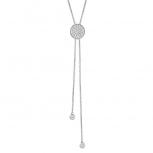 XENOX Damen Kette XS1582 Silber Silberkette Y-Kette Collier Halskette