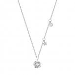 XENOX Damen Kette XS1608 Silber 45 cm Collier Halskette  Anhänger Herz Stern