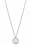XENOX Damen Kette XS1641 Silber 45 cm Collier Halskette Herz Halsschmuck