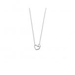 XENOX Damen Kette XS1758 Silber Kettenanhänger Collier mit Anhänger Herz