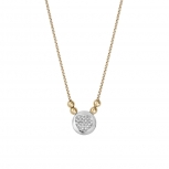 XENOX Damen Kette XS2617G Silber Gold Collier Halskette mit Anhänger Herz