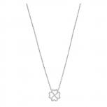 XENOX Damen Kette XS2920 Silber Herz Kleeblatt Collier Halskette mit Anhänger