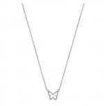 XENOX Damen Kette XS2925 Silber Schmetterling Halskette Collier