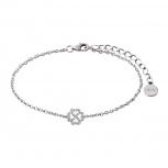 XENOX Damen Armband XS2928 Armkette Silber Herz Kleeblatt Glück
