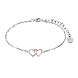 XENOX Damen Armband XS2929R Armkette Bicolor Rosegold Silber Herz