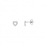 XENOX Ohrringe XS2935 Silber Ohrstecker Herz Damenohrringe