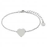 XENOX Damen Armband XS3701 Armkette Silber Herz Love Letters