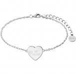XENOX Damen Armband XS3705 Armkette Silber Herz Love Letters My Heart