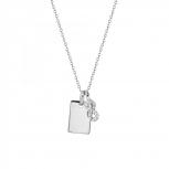 XENOX Damen Kette XS3718 Silber Collier Halskette mit Anhänger Sweet Petite