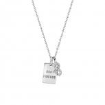 XENOX Damen Kette XS3720 Silber Collier Halskette mit Anhänger Sweet Petite