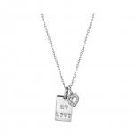 XENOX Damen Kette XS3721 Silber Collier Halskette mit Anhänger Sweet Petite Herz