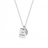 XENOX Damen Kette XS3722 Silber Collier Halskette mit Anhänger Engel Flügel