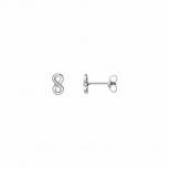 XENOX Ohrringe XS3736N Silber Ohrstecker Damenohrringe Ohrschmuck Unendlichkeit