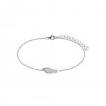 XENOX Damen Armband XS3774 Armkette Silber Feder Damenarmband