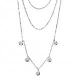 XENOX Damen Kette XS3777 Silber Ketten - Anhänger Halskette Collier